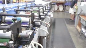 label sticker printer, a lot of printing machine